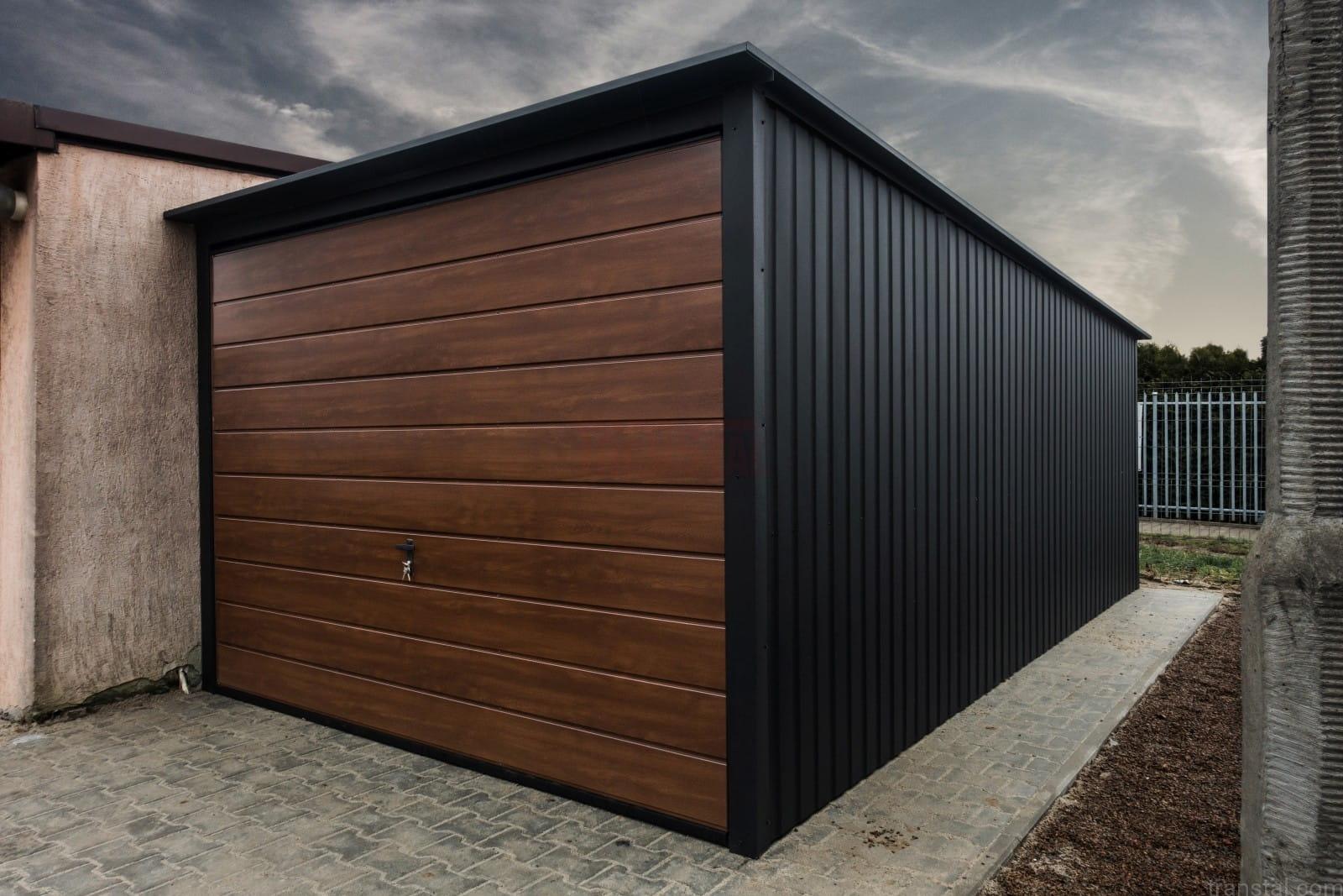 Garaż Blaszany 3x5 Orzech Czarny Matowy Transtal Sklep